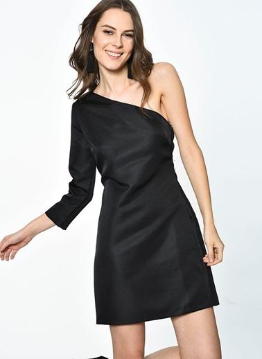 English Factory Tek Omuz Mini Elbise Siyah